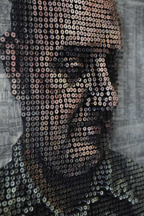 Screw3 Artist Creates 3D Portraits Using 10,000 Screws