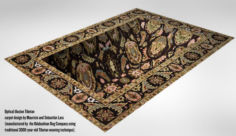 Optical illusion rugs