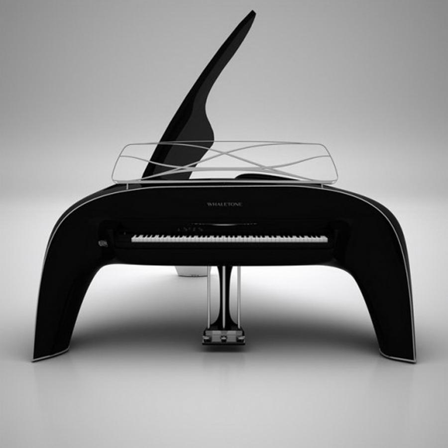 Brilliant whaletone royal piano design comes with built for Piani domestici contempory