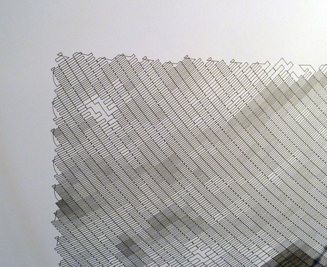Polar4 The Polargraph Drawing Machine By Sandy Noble Spins Sharpie Spider Web Like Images As He Sleeps