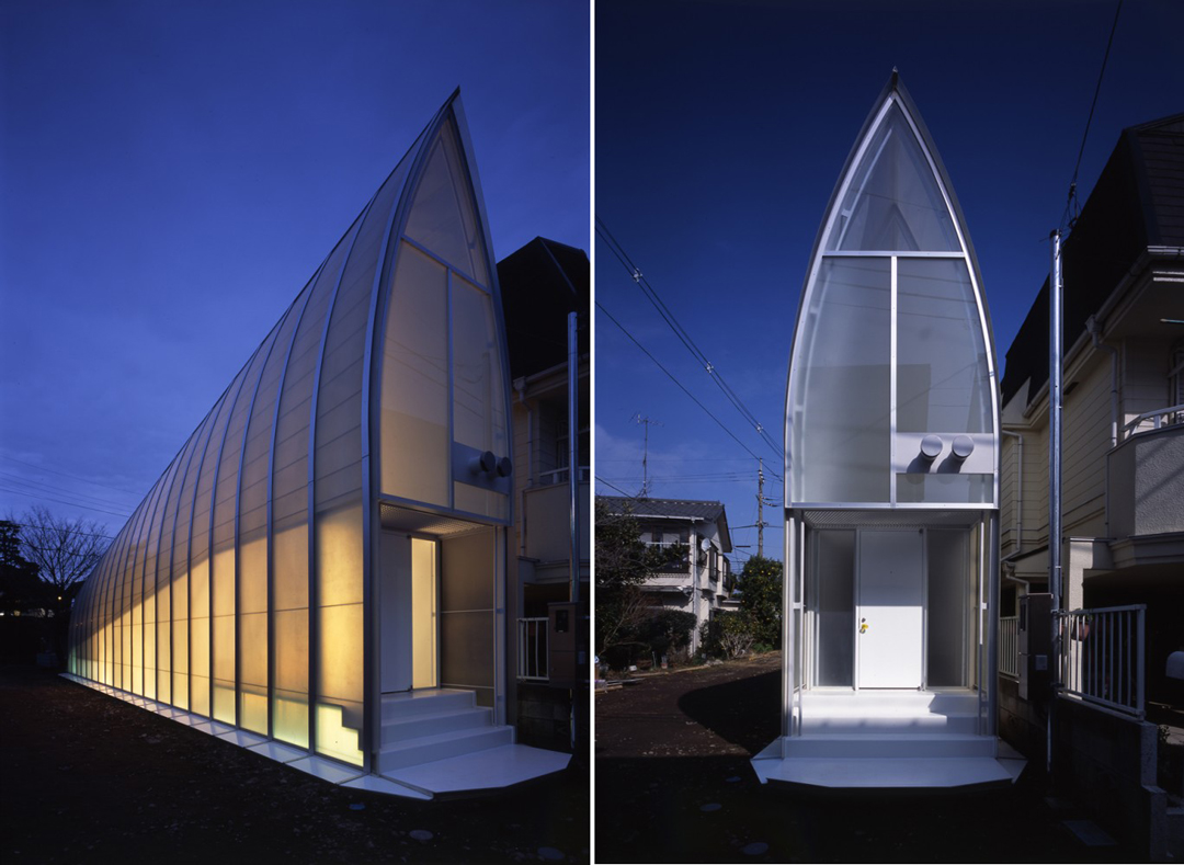 Tekuto1 The Brilliant Trapezoidal Lucky Drops House In Tokyo, Japan