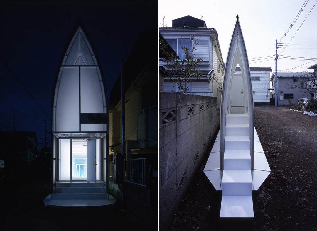 Tekuto2 The Brilliant Trapezoidal Lucky Drops House In Tokyo, Japan