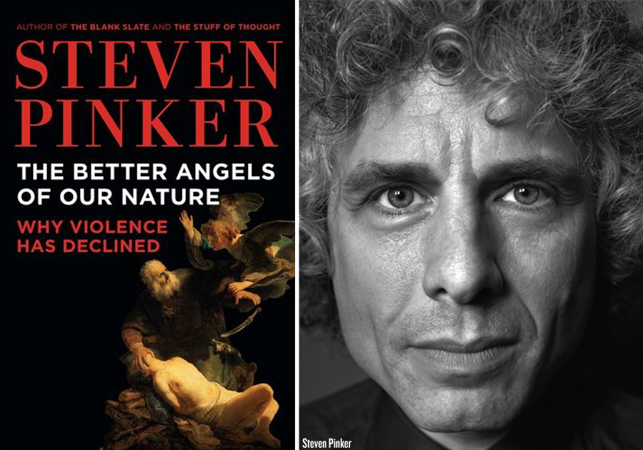 violence is part of our nature Pinker's book provides a lot of material for a conversation about  the violence  against other species and nature has continued to increase.