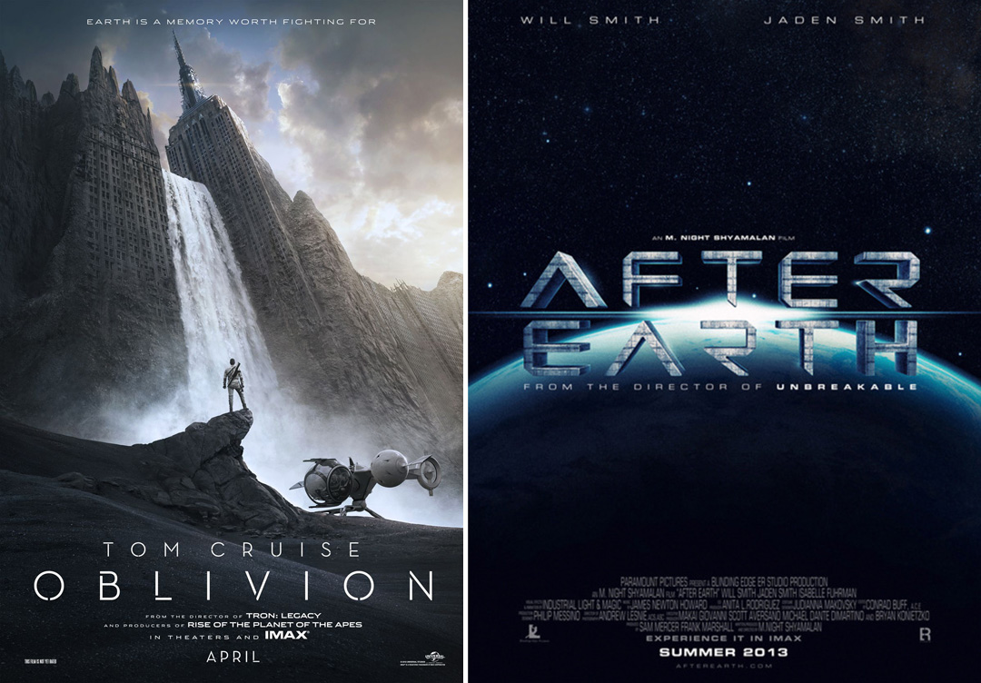 OBLIVIONafterearth M. Night Shyamalans AFTER EARTH Teaser With Will Smith & TRON Directors OBLIVION With Cruise