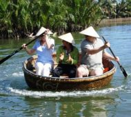 The spinning round bamboo boats of Vietnam