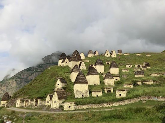 Russia's City of the Dead cemetery in Dargavs North Ossetia