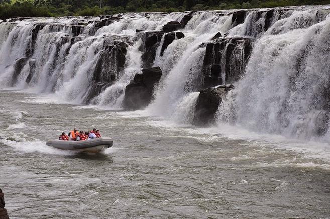 The Mocona Falls Sideways River in Argentina