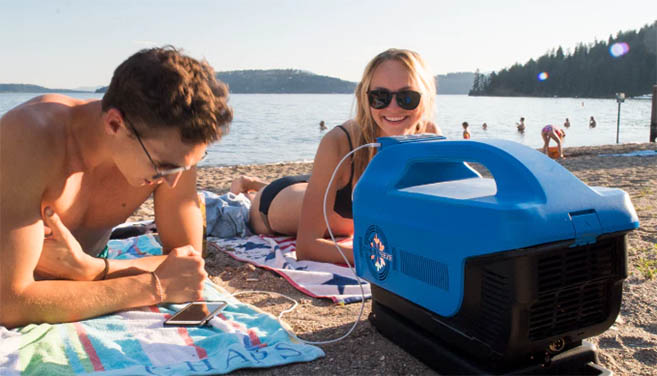 The Zero Breeze portable air conditioner unit