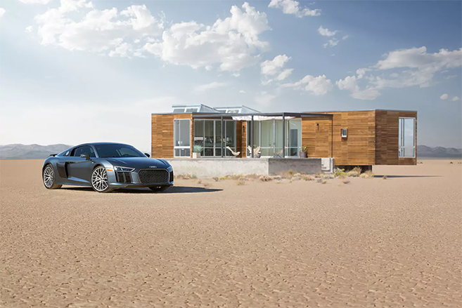 The Audi R8 Dream Home on Airbnb in Death Valley