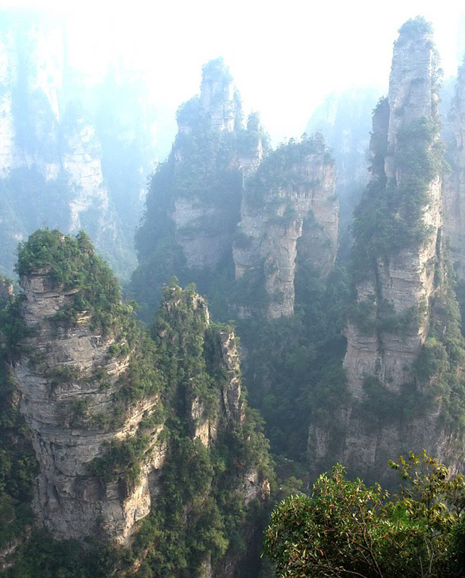 China's Avatar Mountains In Zhangjiajie National Forest Park