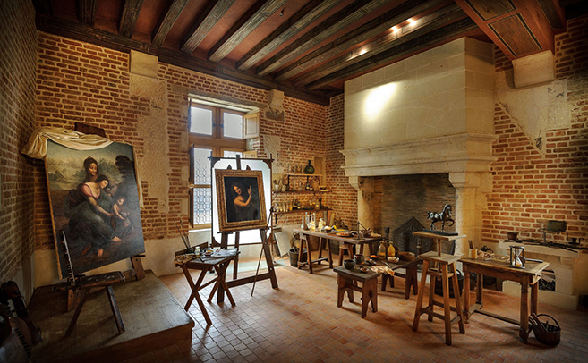 Leonardo da Vinci's working studio in the Château du Clos Lucé