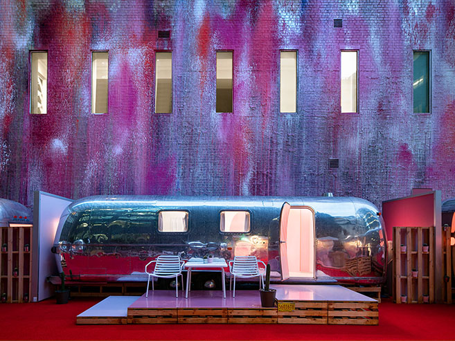 The Notel Airstream Hotel in Melbourne Australia