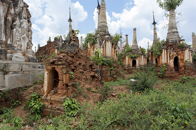 Myanmar's Abandoned Pagoda Forest Of Nyaung Ohak and Shwe Inn Thein