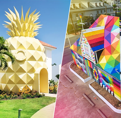 Nickelodeon's Pineapple Villa in Punta Cana and Okuda San Miguel's Universal Chapel