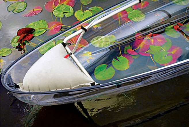 Transparent Canoe Kayak Glass Bottom