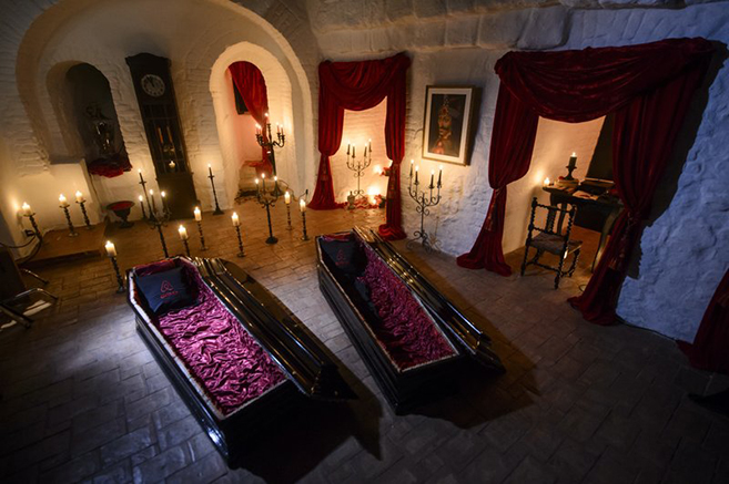 Stay in Dracula's Castle Halloween Night courtesy of Airbnb