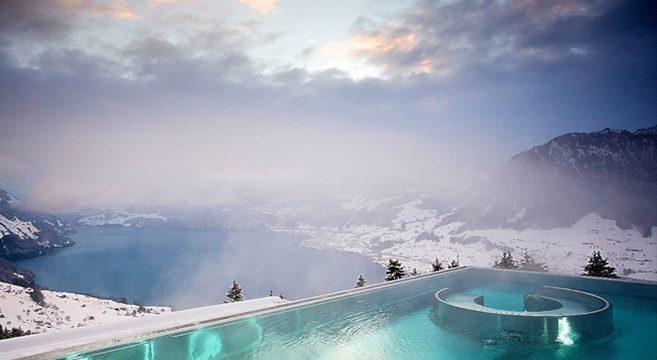 The Stairway to Heaven Spa at Villa Honegg in Switzerland