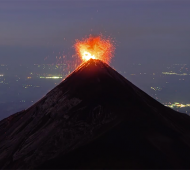 Incredible Lavafountaining Footage of Guatemala's Fuego Volcano