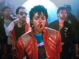 """Behind the scenes photos from the recording of Michael Jackson's """"Thriller""""."""